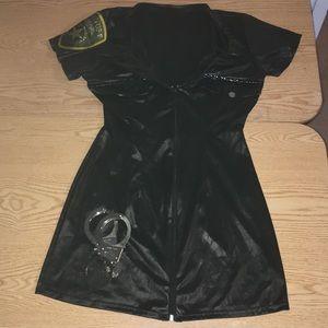 Womens 2Pc LA Policewoman Halloween Costume Sm/Med